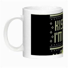 Kiss Me I m Irish Ugly Christmas Black Background Night Luminous Mugs