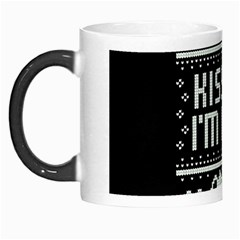 Kiss Me I m Irish Ugly Christmas Black Background Morph Mugs
