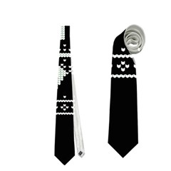 Kiss Me I m Irish Ugly Christmas Black Background Neckties (One Side)