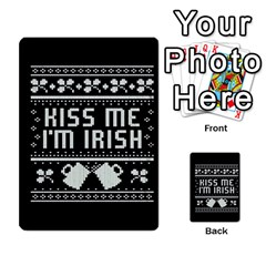 Kiss Me I m Irish Ugly Christmas Black Background Multi-purpose Cards (Rectangle)