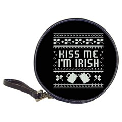 Kiss Me I m Irish Ugly Christmas Black Background Classic 20-CD Wallets