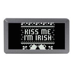 Kiss Me I m Irish Ugly Christmas Black Background Memory Card Reader (Mini)