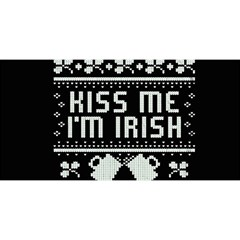 Kiss Me I m Irish Ugly Christmas Black Background YOU ARE INVITED 3D Greeting Card (8x4)