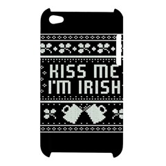 Kiss Me I m Irish Ugly Christmas Black Background Apple iPod Touch 4