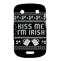 Kiss Me I m Irish Ugly Christmas Black Background Bold Touch 9900 9930