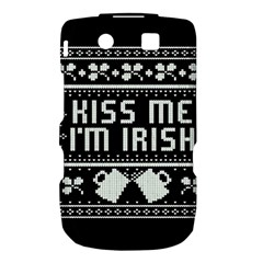 Kiss Me I m Irish Ugly Christmas Black Background Torch 9800 9810
