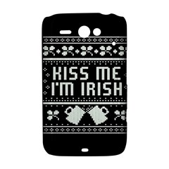 Kiss Me I m Irish Ugly Christmas Black Background HTC ChaCha / HTC Status Hardshell Case