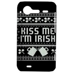 Kiss Me I m Irish Ugly Christmas Black Background HTC Incredible S Hardshell Case