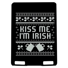 Kiss Me I m Irish Ugly Christmas Black Background Kindle Touch 3G