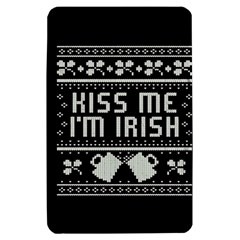 Kiss Me I m Irish Ugly Christmas Black Background Kindle Fire (1st Gen) Hardshell Case