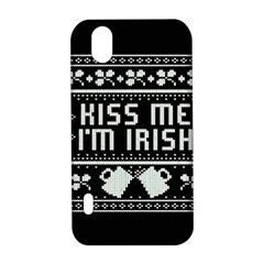 Kiss Me I m Irish Ugly Christmas Black Background LG Optimus P970