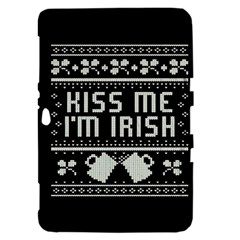 Kiss Me I m Irish Ugly Christmas Black Background Samsung Galaxy Tab 8.9  P7300 Hardshell Case