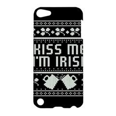 Kiss Me I m Irish Ugly Christmas Black Background Apple iPod Touch 5 Hardshell Case