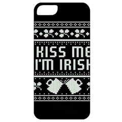 Kiss Me I m Irish Ugly Christmas Black Background Apple iPhone 5 Classic Hardshell Case