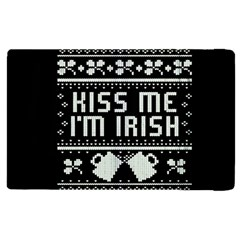 Kiss Me I m Irish Ugly Christmas Black Background Apple iPad 2 Flip Case
