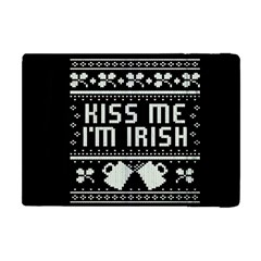 Kiss Me I m Irish Ugly Christmas Black Background Apple iPad Mini Flip Case