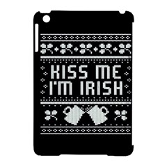 Kiss Me I m Irish Ugly Christmas Black Background Apple iPad Mini Hardshell Case (Compatible with Smart Cover)