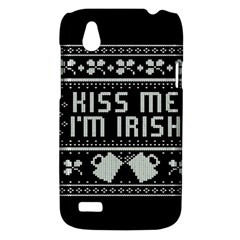 Kiss Me I m Irish Ugly Christmas Black Background HTC Desire V (T328W) Hardshell Case