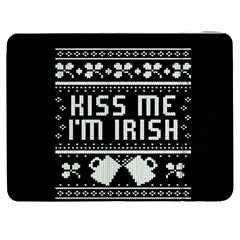 Kiss Me I m Irish Ugly Christmas Black Background Samsung Galaxy Tab 7  P1000 Flip Case