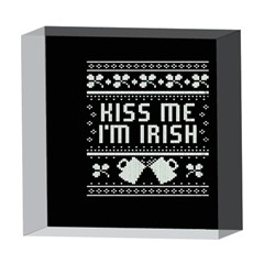 Kiss Me I m Irish Ugly Christmas Black Background 5  x 5  Acrylic Photo Blocks