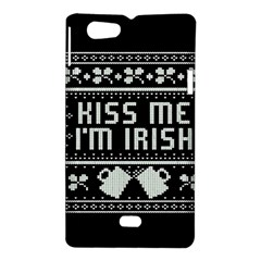 Kiss Me I m Irish Ugly Christmas Black Background Sony Xperia Miro