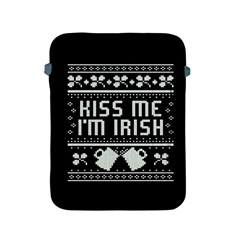Kiss Me I m Irish Ugly Christmas Black Background Apple iPad 2/3/4 Protective Soft Cases