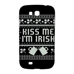Kiss Me I m Irish Ugly Christmas Black Background Samsung Galaxy Grand GT-I9128 Hardshell Case