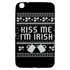 Kiss Me I m Irish Ugly Christmas Black Background Samsung Galaxy Tab 3 (8 ) T3100 Hardshell Case