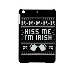 Kiss Me I m Irish Ugly Christmas Black Background iPad Mini 2 Hardshell Cases