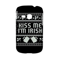 Kiss Me I m Irish Ugly Christmas Black Background Samsung Galaxy S6310 Hardshell Case