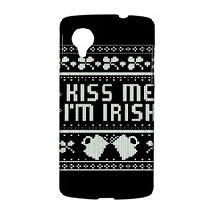Kiss Me I m Irish Ugly Christmas Black Background LG Nexus 5
