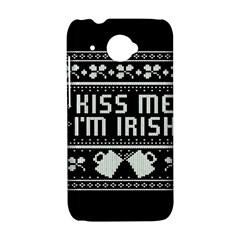 Kiss Me I m Irish Ugly Christmas Black Background HTC Desire 601 Hardshell Case