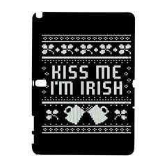 Kiss Me I m Irish Ugly Christmas Black Background Samsung Galaxy Note 10.1 (P600) Hardshell Case