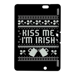 Kiss Me I m Irish Ugly Christmas Black Background Kindle Fire HDX 8.9  Hardshell Case