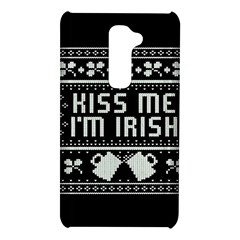 Kiss Me I m Irish Ugly Christmas Black Background LG G2
