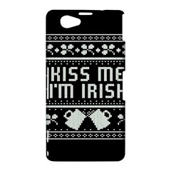 Kiss Me I m Irish Ugly Christmas Black Background Sony Xperia Z1 Compact