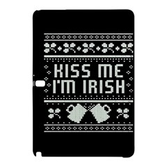 Kiss Me I m Irish Ugly Christmas Black Background Samsung Galaxy Tab Pro 12.2 Hardshell Case