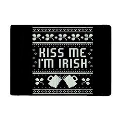 Kiss Me I m Irish Ugly Christmas Black Background iPad Mini 2 Flip Cases