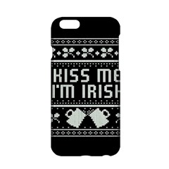 Kiss Me I m Irish Ugly Christmas Black Background Apple iPhone 6/6S Hardshell Case