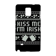 Kiss Me I m Irish Ugly Christmas Black Background Samsung Galaxy Note 4 Hardshell Case