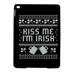 Kiss Me I m Irish Ugly Christmas Black Background iPad Air 2 Hardshell Cases