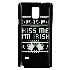 Kiss Me I m Irish Ugly Christmas Black Background Samsung Galaxy Note 4 Case (Black)