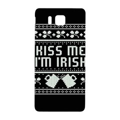 Kiss Me I m Irish Ugly Christmas Black Background Samsung Galaxy Alpha Hardshell Back Case