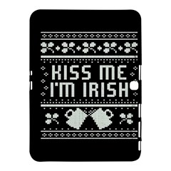 Kiss Me I m Irish Ugly Christmas Black Background Samsung Galaxy Tab 4 (10.1 ) Hardshell Case