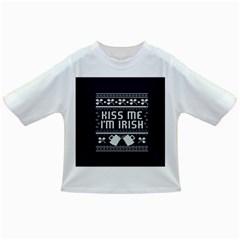 Kiss Me I m Irish Ugly Christmas Blue Background Infant/toddler T Shirts