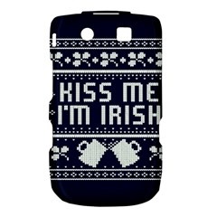 Kiss Me I m Irish Ugly Christmas Blue Background Torch 9800 9810