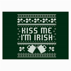 Kiss Me I m Irish Ugly Christmas Green Background Collage Prints