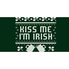 Kiss Me I m Irish Ugly Christmas Green Background You Are Invited 3d Greeting Card (8x4)