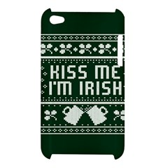Kiss Me I m Irish Ugly Christmas Green Background Apple iPod Touch 4
