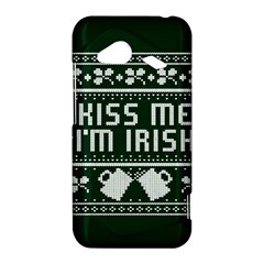 Kiss Me I m Irish Ugly Christmas Green Background HTC Droid Incredible 4G LTE Hardshell Case